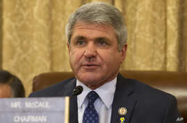 House Homeland Security Committee Chairman Rep. Michael McCaul, R-Texas, asks a questions on Capitol Hill in Washington, Wednesday, April 9, 2014, during the committee's hearing about the Boston Marathon Bombings leading up to the year anniversary of