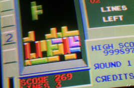 FILE - This May 22, 2009, photo shows the puzzle video game Tetris.