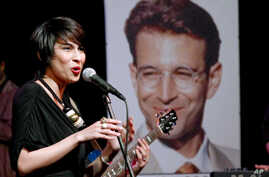 FILE - Musician Meesha Shafi performs at a tribute concert to slain journalist Daniel Pearl in Islamabad, Pakistan, Oct. 9, 2010.