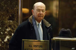 Commerce Secretary-designate Wilbur Ross arrives at Trump Tower in New York, Dec. 15, 2016.