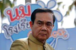 Thailand's Prime Minister Prayuth Chan-ocha arrives at a weekly cabinet meeting at Government House in Bangkok, Thailand, Sept. 27, 2016.