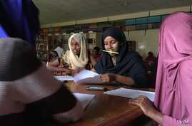 Students gather after school to prepare for the ACT, the American college entrance exam, at Abaarso School of Science and Technology, in Hargeisa, Somaliland, April 3, 2016.