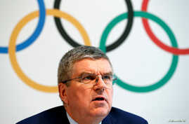 "International Olympic Committee (IOC) President Thomas Bach gives a news conference after the Olympic summit on doping in Lausanne, Switzerland, June 21, 2016. Bach said there ""serious doubts"" that athletes coming from non-compliant countries such as"