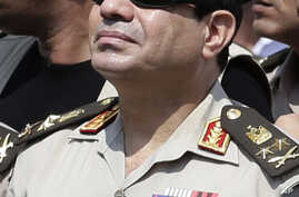 Egypt's Defense Minister Gen. Abdel-Fattah el-Sissi, Cairo, Egypt, Friday, Sept. 20, 2013.