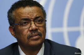 Tedros Adhanom, Ethiopia's minister of foreign affairs and former minister of health, is seen at a news conference at the European headquarters of the United Nations in Geneva, Switzerland, May 24, 2016. Tedros is the first African vying for the Worl...