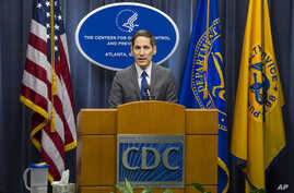 Centers for Disease Control and Prevention Director Dr. Tom Frieden speaks at a news conference in Atlanta, Oct. 12, 2014.