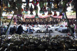 """A shop full of traditional Ramadan lanterns called """"fanous"""" is pictured ahead of the holy fasting month of Ramadan in Cairo June 27, 2014"""