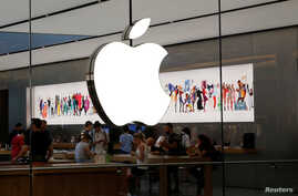 People visit an Apple store  in Istanbul, Turkey, Aug. 15, 2018.