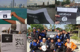Images uploaded by Twitter users to show their support of the Islamic State in Iraq and the Levant.
