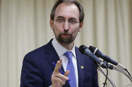 U.N. High Commissioner for Human Rights Zeid Ra'ad Al Hussein answers questions during a press conference in Seoul, South Korea, June 25, 2015.