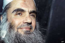 In this April 17, 2012 photo, Abu Qatada is driven away after being refused bail at a hearing at London's Special Immigration Appeals Commission, which handles deportation and security cases, in London.