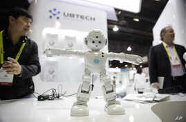 UBTECH's Lynx, a video-enabled humanoid robot that's Amazon Alexa-compatible, is demonstrated at CES International in Las Vegas, Jan. 6, 2017.