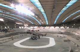 The cycling track (velodrome) for the upcoming 2012 Olympic Games in London