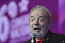 Brazil's former President Luiz Inacio Lula da Silva speaks during the opening ceremony of the Workers' Party National Congress in Brasilia, Brazil, June 1, 2017.