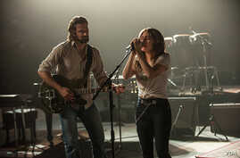 """A scene from """"A Star is Born"""" with Bradley Cooper and Lady Gaga."""