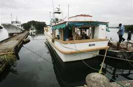 A government fisheries inspection boat is tied up in Fiji's capitol Suva, unable to work because of the lack of money (File Photo)