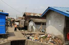 A section of the Badia East community in Lagos, Nigeria, before the forced eviction on February 23, 2013. ( Social and Economic Rights Action Center (SERAC))
