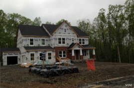 A new family house under construction in Loudoun County, Virginia, Aug. 2016. (Photo: Diaa Bekheet)
