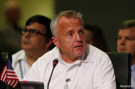 U.S. Deputy Secretary of State John Sullivan speaks during the OAS 47th General Assembly in Cancun, Mexico, June 20, 2017.