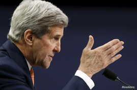 FILE - U.S. Secretary of State John Kerry testifies before a House Appropriations subcommittee in Washington, Feb. 24, 2016.