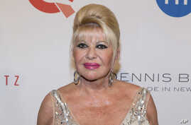 FILE - Ivana Trump, ex-wife of President Donald Trump, attends the Fashion Institute of Technology Annual Gala benefit in New York, May 9, 2016.