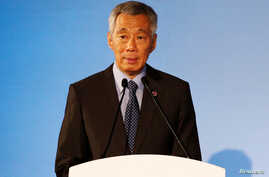 Singapore's Prime Minister Lee Hsien Loong gives an address during the opening ceremony of the 51st ASEAN Foreign Ministers' Meeting in Singapore, Aug. 2, 2018.