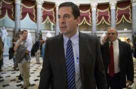 House Intelligence Committee Chairman Devin Nunes, R-Calif. walks through Statuary Hall on Capitol Hill in Washington, March 24, 2017.