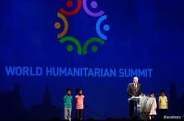 Turkish President Tayyip Erdogan speaks during the opening ceremony of the World Humanitarian Summit in Istanbul, Turkey, May, 23, 2016.