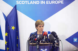 Scotland's First Minister Nicola Sturgeon speaks during a media conference at the Scotland House in Brussels, Belgium, June 29, 2016.