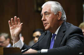 Secretary of State Rex Tillerson testifies on Capitol Hill in Washington, June 13, 2017, before the Senate Foreign Relations Committee.