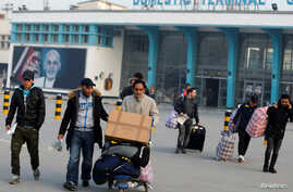 Afghans, whose asylum applications have been rejected, arrive from Germany in Kabul, Afghanistan, Dec. 15, 2016.