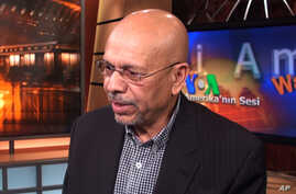 Libya's former Ambassador to the US Ali Suleiman Aujali at VOA studios