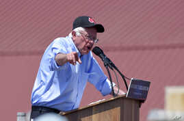 Democratic presidential candidate Bernie Sanders speaks at a campaign rally in Santa Maria, Calif., May 28, 2016.