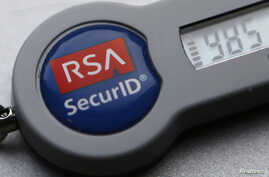 FILE - An RSA SecurID dongle used for internet VPN tunnelling.