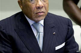 Former Liberian President Charles Taylor is seen at the U.N.-backed Special Court for Sierra Leone in Leidschendam, Netherlands, 05 Aug 2010