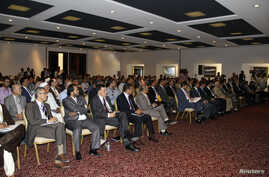 Lawmakers from Libya's newly-elected parliament are seen assembled in Tobruk August 2, 2014.