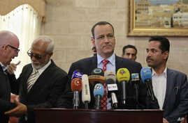 U.N. special envoy to Yemen, Ismail Ould Cheikh Ahmed speaks at a press conference in Sanaa, Yemen, Jan. 10, 2016.
