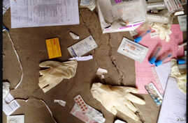 MSF personnel found medical supplies strewn around Leer Hospital when they returned to assess damages. The hospital opened 25 years ago and served 300,000 people in South Sudan's Unity state.