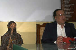FILE - Asia Bibi, a Pakistani Christian woman who has been sentenced to death for blasphemy.