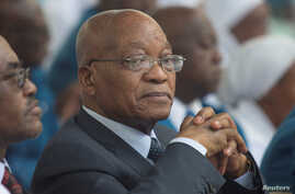 South Africa's President Jacob Zuma before speaking to members of the Twelve Apostles' Church in Christ at the Moses Mabhida Stadium in Durban, Dec. 4, 2016.