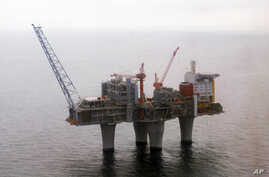 The Troll A,  gas platform run by the Norwegian oil giant Statoil company, standing above the North Sea, about 70 kilometers off the coast of Norway, June 8, 2006.