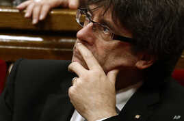 Catalan regional President Carles Puigdemont is pictured during a session at the Parliament of Catalonia in Barcelona, Spain, July 28, 2016.