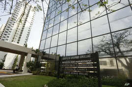 A marquee of the Arango Orillac Building lists the Mossack Fonseca law firm in Panama City, April 3, 2016.Germany's Sueddeutsche Zeitung newspaper obtained a vast trove of documents in 2016 detailing the offshore financial dealings of the rich and fa
