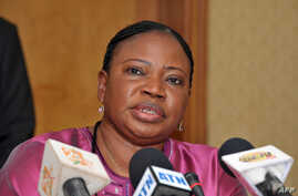 International Criminal Court chief prosecutor Fatou Bensouda gives a press conference on in Dakar, November 12, 2012.