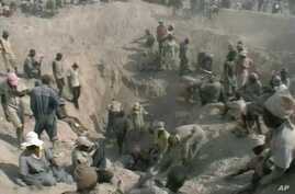 A diamond mine in Africa