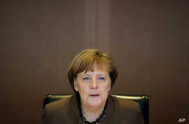 German Chancellor Angela Merkel attends the weekly cabinet meeting of the German government at the chancellery in Berlin, Feb. 22, 2017.