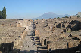 The neighborhood of Pompeii where archeologists found out about the diet of ancient Pompeiians is seen in this photo provided by the University of Cincinnati.