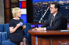 U.S. Senator Kirsten Gillibrand, D-NY, makes an appearance on the Late Show with Stephen Colbert in New York, Jan. 15, 2019.