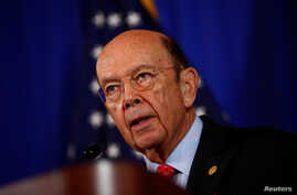 US Commerce Secretary Wilbur Ross holds a news conference at the Department of Commerce in Washington, D.C., March 10, 2017.
