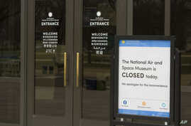 The Smithsonian Institution National Air and Space Museum is closed during the partial government shutdown, Jan. 4, 2019 in Washington.